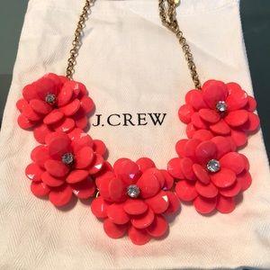 J Crew Factory Flower Necklace